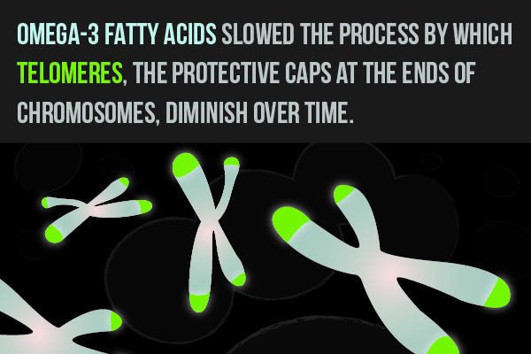Studies suggest omega-3 fatty acids can help keep cells alive longer.